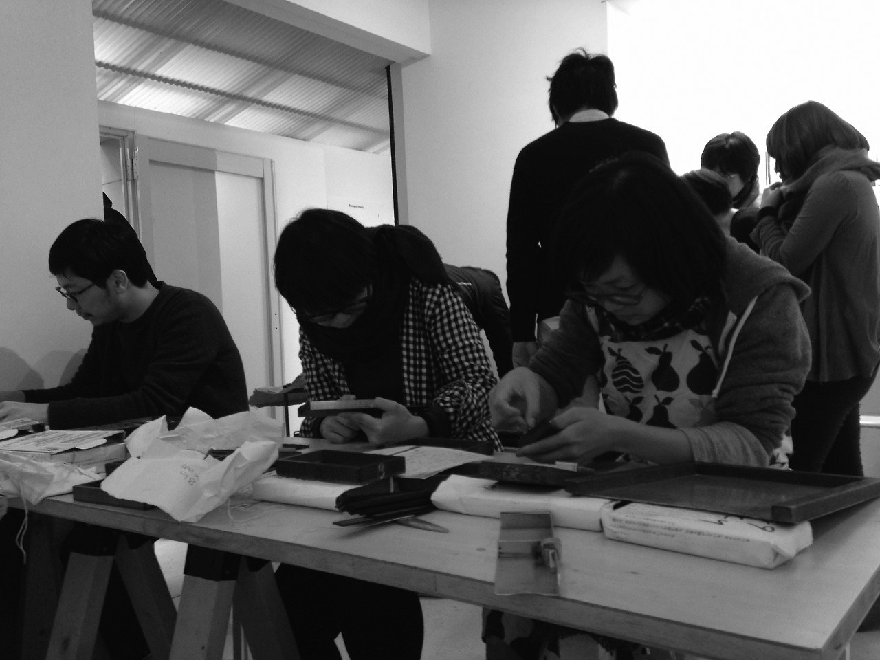 first universal press: letterpress workshop at print gallery tokyo