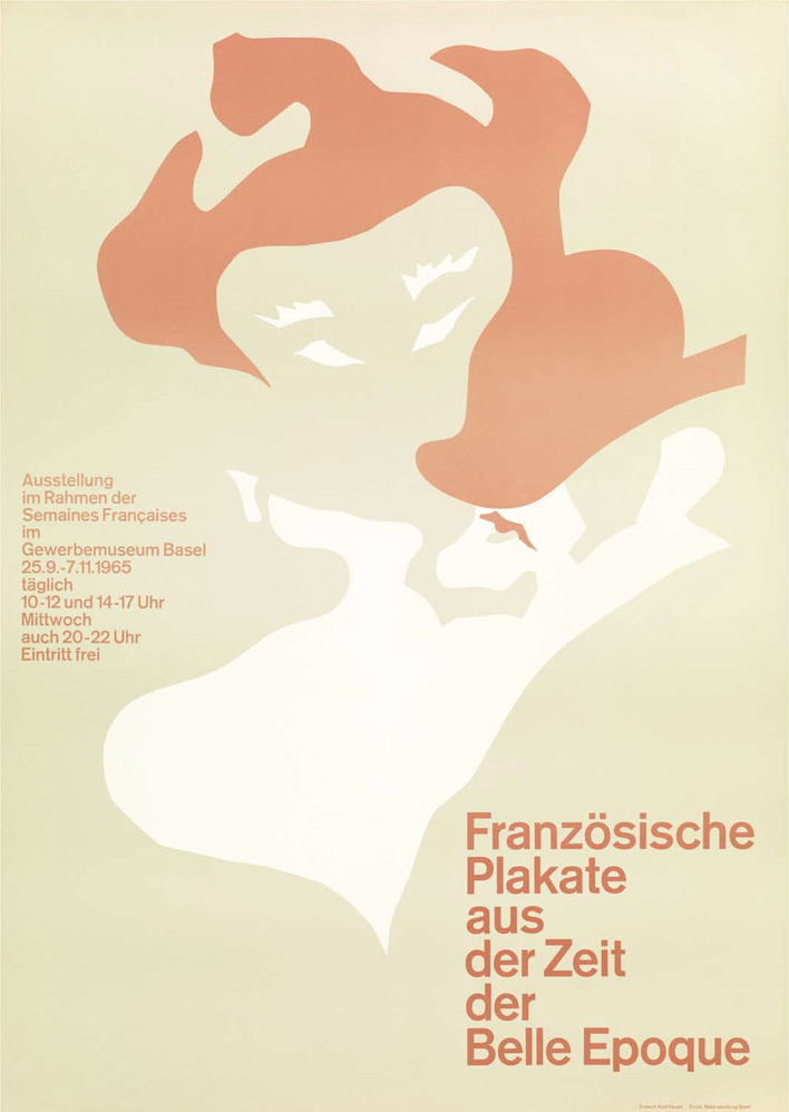 "Kurt Hauert poster ""Französishce Plakate aus der Zeit Belle Epoque/French Posters from the time Belle Epoque""1965"