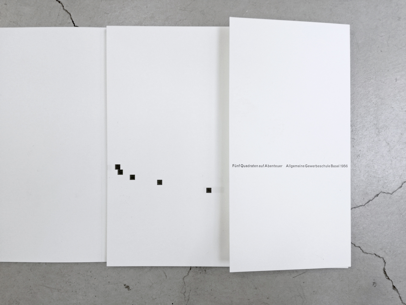 Kurt Hauert Fünf Quadraten auf Abenteuer(Five Squares on an Adventure) reprinted by Helmut Schmid exhibited at print gallery Tokyo