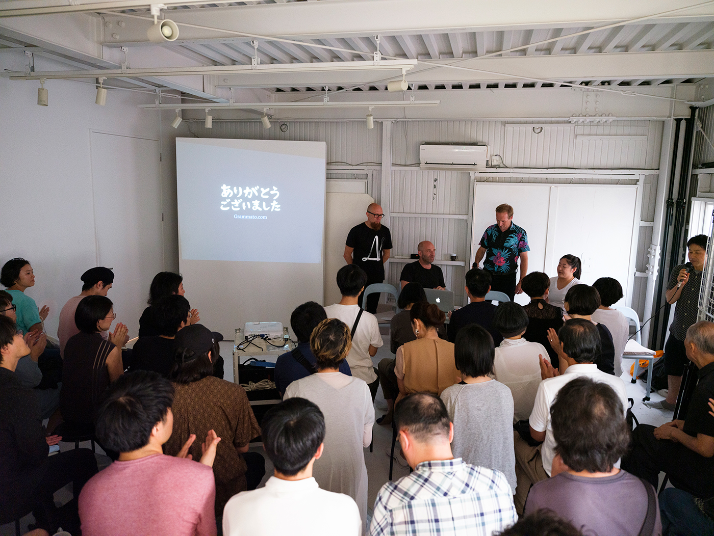 Lecture From Typography to Grammatography, Underware, at print gallery Tokyo