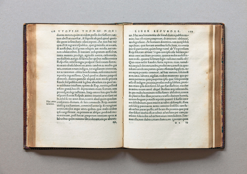 Thomas Morus Utopia printed by Johannes Froben in 1518 in Basel