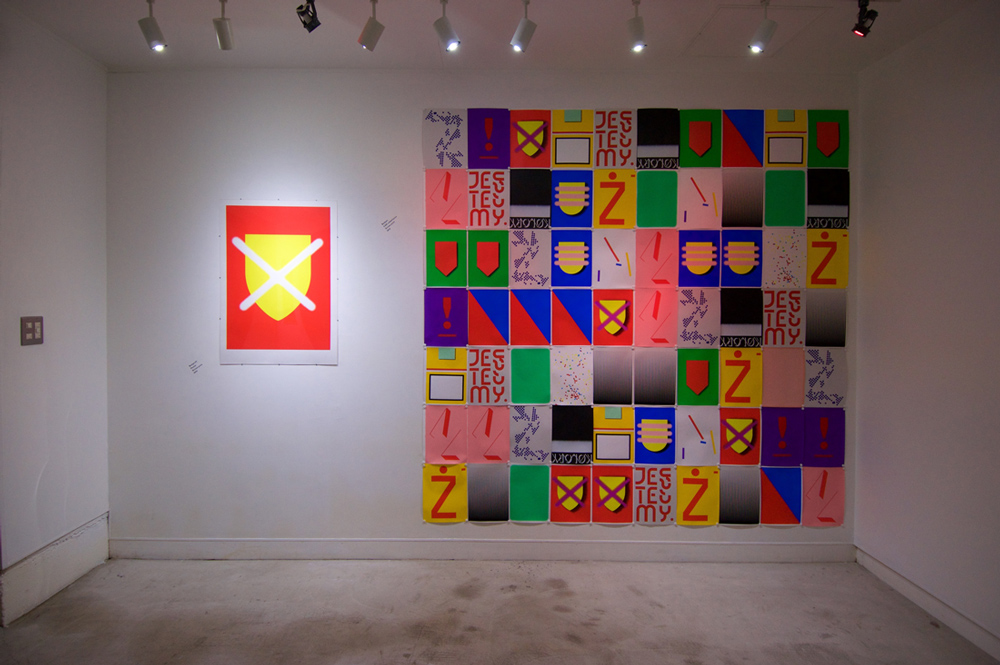 jasio stefanski exhibition: color code at print gallery Tokyo