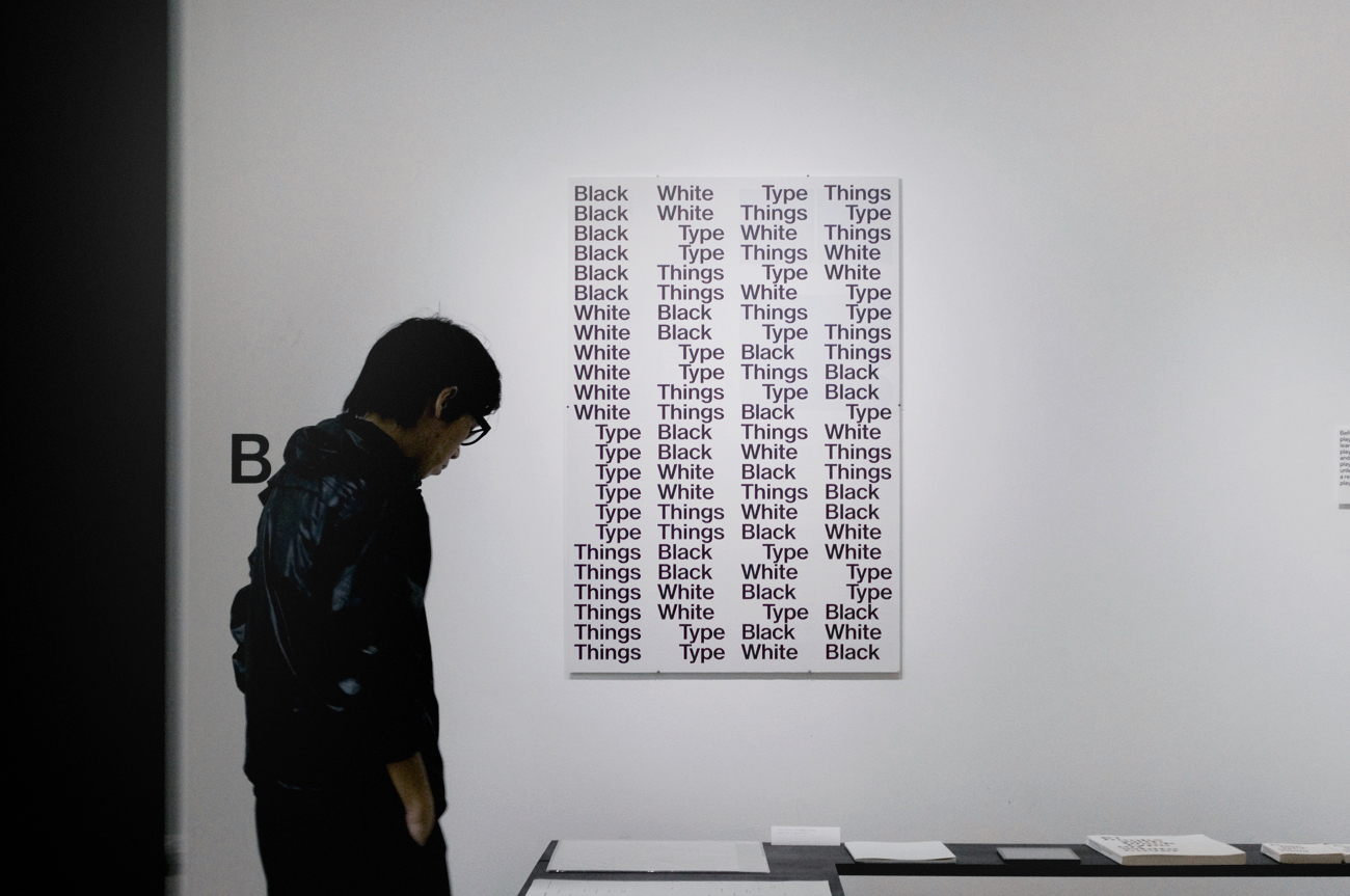 Bernd Kuchenbeiser Exhibition Black White Type Things at print gallery Tokyo